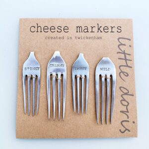 image of forks used as cheese markers