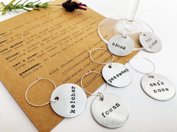 Weather themed wine charms