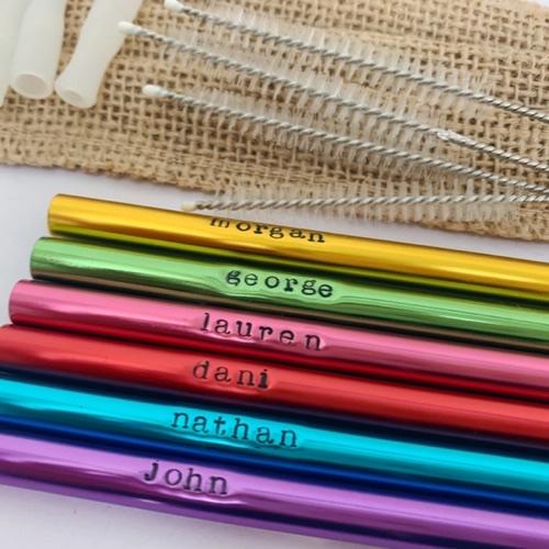 Personalised metal straw