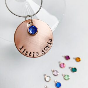 Personalised wine charm